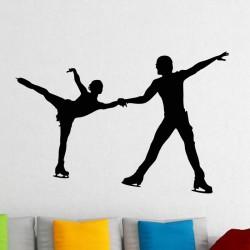 Sticker Couple de patineurs artistiques