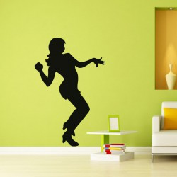 Sticker Danseuse disco
