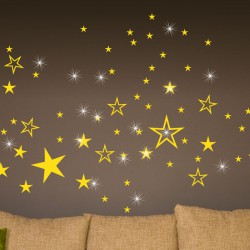 Sticker Étoiles & 15 Swarovski