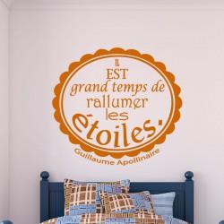 Sticker Les étoiles - Guillaume Apollinaire