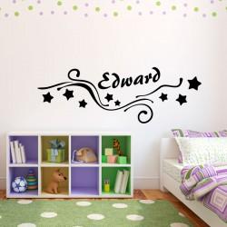 Sticker Personnalisé Enfants étoiles