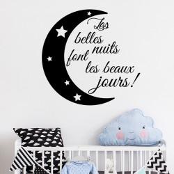 Sticker citation Les belles nuits
