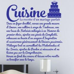 Sticker La recette d'un mariage...