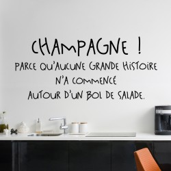 Sticker citation Champagne !