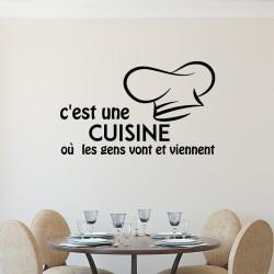 Sticker citation C'est une cuisine...