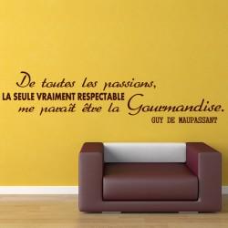 Sticker citation De toutes les passions