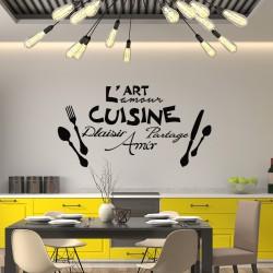 Sticker L'art, l'amour de la cuisine ...
