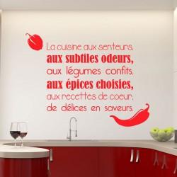 Sticker citation La cuisine aux senteurs