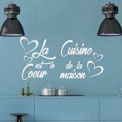Sticker La cuisine est le coeur...