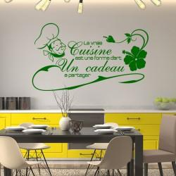 Sticker citation La vraie cuisine...