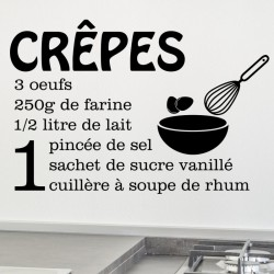 Sticker citation recette Crêpes ...