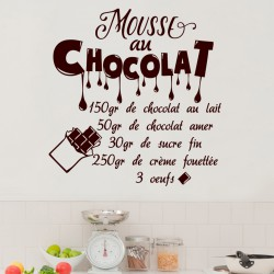 Sticker citation recette Mouse au chocolat