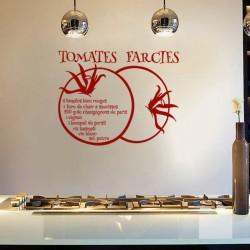 Sticker citation recette Tomates farcies