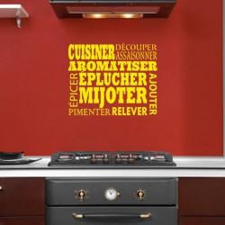 Sticker Cuisiner, aromatiser, épulcher,...