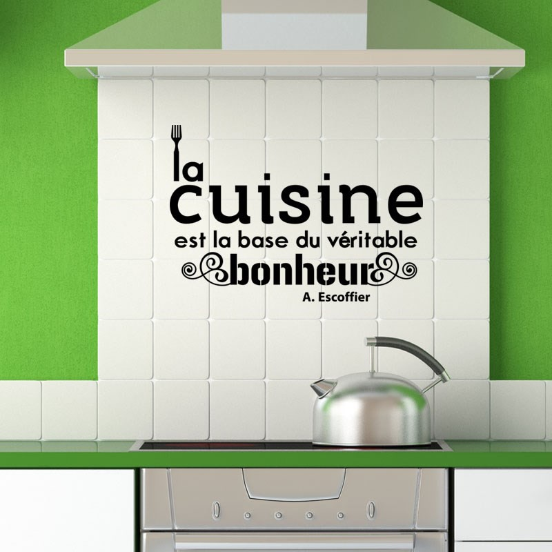 Sticker citation cuisine de a escoffier pas cher for Proverbe cuisine humour