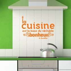 Sticker citation cuisine de A. Escoffier
