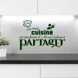 Sticker La vraie cuisine