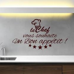 Sticker Bon appétit du Chef