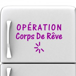 Sticker Operation corps de rêve