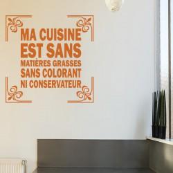 Sticker Ma cuisine est sans matière grasses