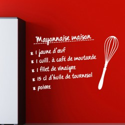 Sticker recette Mayonnaise maison