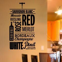 Sticker Sortes des vins