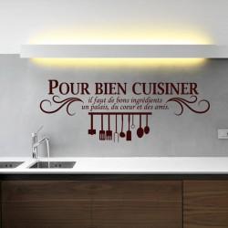 Sticker Pour bien cuisiner