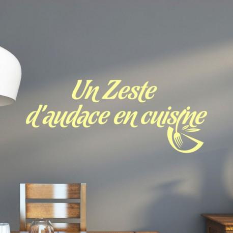 Sticker Un Zeste Daudace En Cuisine Pas Cher Stickers Citations