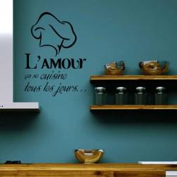 """Sticker """"L'amour ça se cuisine…"""""""