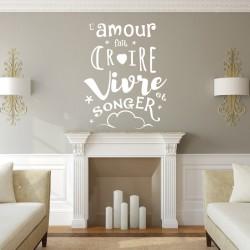 Sticker L'amour fait croire...