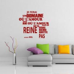 Sticker Ne me quitte pas - Jacques Brel