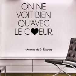Sticker citation de Antoine de St Exupéry