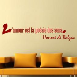 Sticker L'amour de Honoré de Balzac