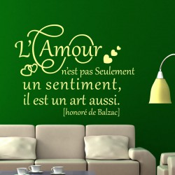 Sticker L'amour est un art
