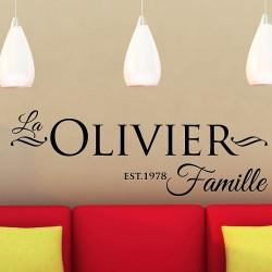 Sticker Famille nom Personnalisé