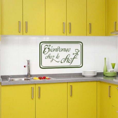 Sticker Cuisine Bienvenu chez le chef