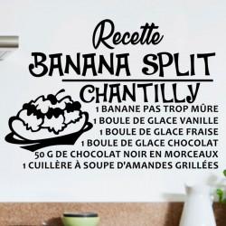 Sticker recette Banana split