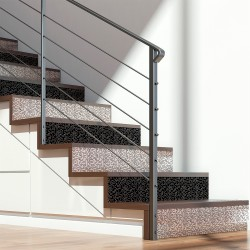 Stickers escalier carrelages Anja - 2 bandes de H15 x L105 cm