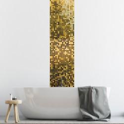 Pack de 6 stickers frises carrelages feuille d'or de 10 x 60 cm