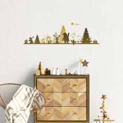 Sticker Noël frise de noël design -30x95cm