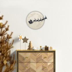 Sticker Noël père noël au clair de la lune - 60x65cm
