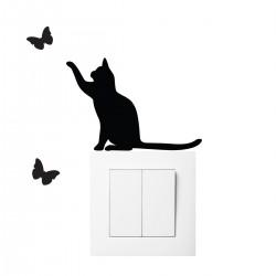 Stickers prise chat et papillons