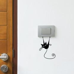 Sticker interrupteur petit chien charmeur - H15 x L10 cm