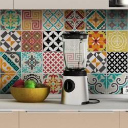 24 stickers carrelages azulejos tina - 10x10cm