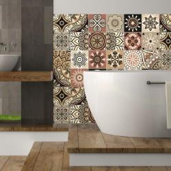24 stickers carrelages azulejos Piura - 10x10cm