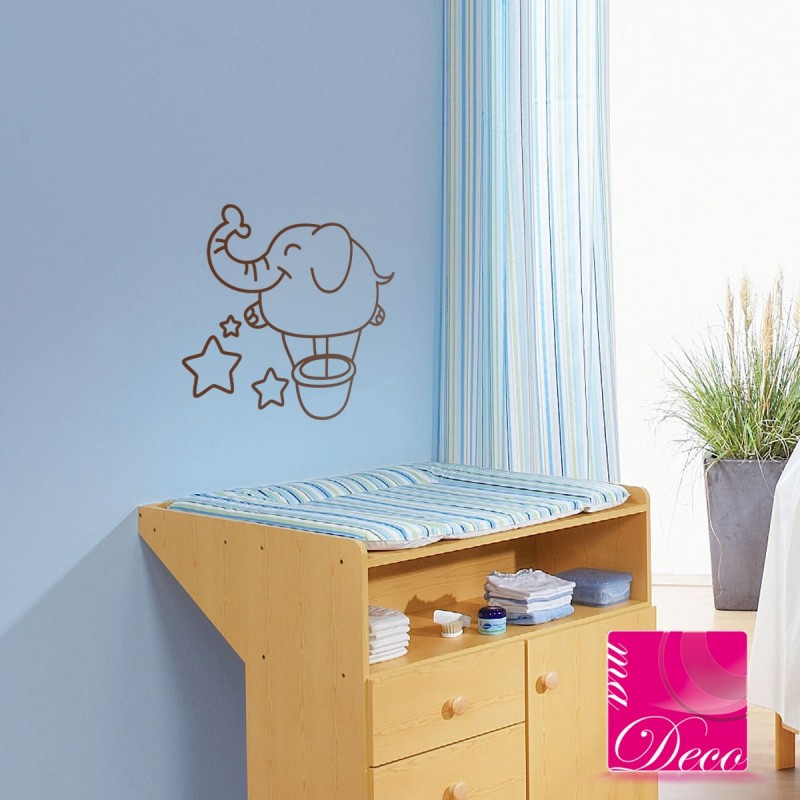 Sticker b b l phant cheap stickers children discount - Stickers elephant chambre bebe ...