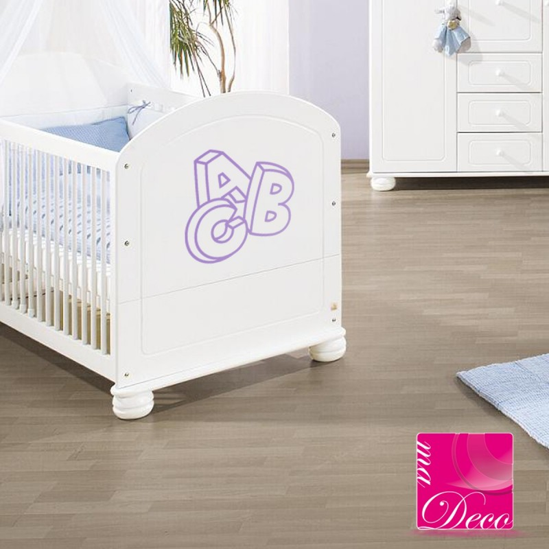 sticker lettres abc pas cher stickers enfants discount stickers muraux madeco stickers. Black Bedroom Furniture Sets. Home Design Ideas