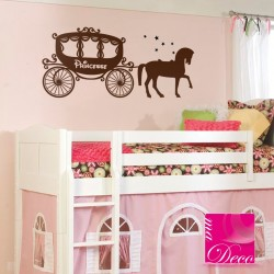 Sticker Carosse de princesse
