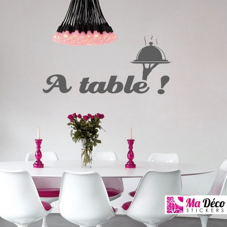 Sticker A table