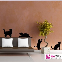 Pack silhouettes de chats